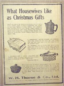 1920 Pyrex Gift Plus W H Thorne St John NB Newspaper Ad