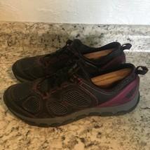 CLARKS Outdoor Rock Womens Purple Black  Training Sneakers Size 9.5 - $39.55