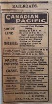 1903 Canadian Pacific Time Table Train Service Daily Telegraph Saint Joh... - $3.00