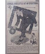 """1920 Georges Carpentier """"Orchid Man"""" Boxer Bowler Clip - $4.75"""