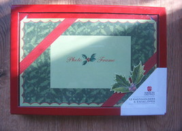 American Greetings CHRISTMAS 4 by 6 PHOTO Frame CARDS 12 Envelope Holder... - $9.99