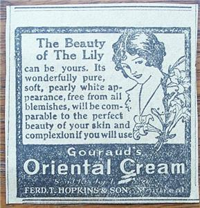 Primary image for 1920 Gouraud's Oriental Cream The Beauty of the Lily Ad