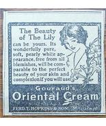 1920 Gouraud's Oriental Cream The Beauty of the Lily Ad - $2.00
