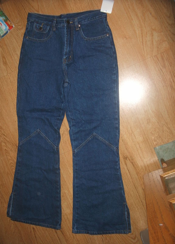 Primary image for Girls ARIZONA Dark Blue Jeans Bell Bottom 5 Pocket Rivet Size 12 Pants cotton