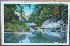 1920-30's PC Scene in Cascade Park, Elyria OH - $4.95