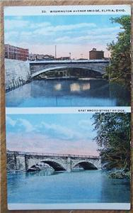 1920-30's PC Washington Ave. & East Broad St Bridges OH