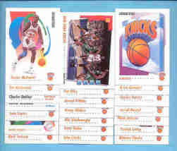 1991/92 Skybox New York Knicks Basketball Team Set  - $2.50
