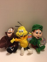 1 Lot of 3 Breakfast Pals Plush Figures General Mills 1998 Cute - $10.39