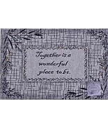 """Set of 3 Tapestry Placemats, 13"""" x 19"""", TOGETHER IS A WONDERFUL PLACE TO BE, HC - $15.83"""