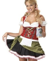 Bavarian Bar Maid Deluxe Costume, size XS (4-6) Eye Candy California Cos... - $33.94