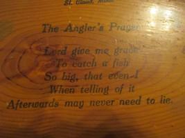 St Cloud Minnesota MN The Anglers Prayer Souvenir piece Wood image 2
