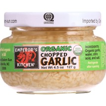 Emperors Kitchen Garlic - Organic - Chopped - 4.5 oz - case of 12 - $65.28