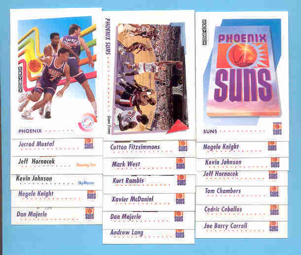 1991/92 Skybox Phoenix Suns Basketball Team Set