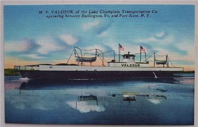 1940's PC M.V. Valcour. Ferry Boat, Lake Champlain, NY