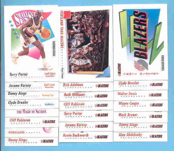 1991/92 Skybox Portland Trail Blazers Basketball Team Set
