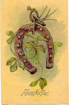 Good Luck In The New Year Vintage 1907 Post Card - $5.00
