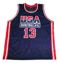 Shaquille O'Neal #13 Team USA New Men Basketball Jersey Navy Blue Any Size image 4
