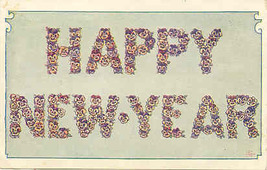 Happy New Year Vintage Post Card - $2.00