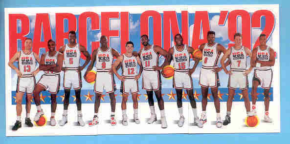 1991/92 Skybox USA 1992 Olympics Basketball Team Photo