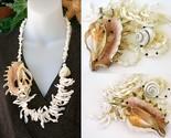 Seashell necklace frangia sliced shell chunky cream 23k gold thumb155 crop