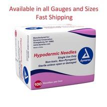"""Dynarex Hypodermic Needles Box of 100, 19G X 1 1/2 """" FREEEEEEEEE FAST S... - $7.67"""