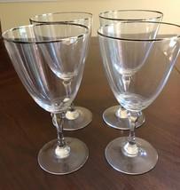 "Lenox Montclair Water Goblets Glasses, 7"" Platinum Trim, Set of 4 - $30.39"