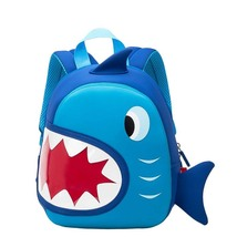 3D cartoon little crazy blue shark children backpack - $28.00