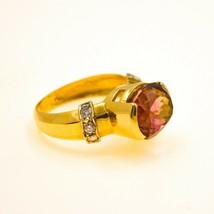 Pink Tourmaline Ring on 20ct Yellow Gold Uk size o1/2 BHS - $1,160.75