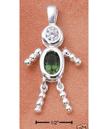 Sterling & CZ Birthstone Kids BOY Charm MAY - $25.00