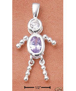 Sterling & CZ Birthstone Kids BOY Charm JUNE - $25.00