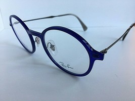 New Ray-Ban RB 8770 3656 LightRay 46mm Rx Round Blue Eyeglasses Frames - $99.99
