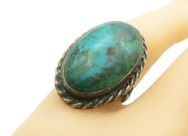 925 Sterling Silver - Vintage Antique Eilat Stone Cocktail Ring Sz 7 - R... - $34.27