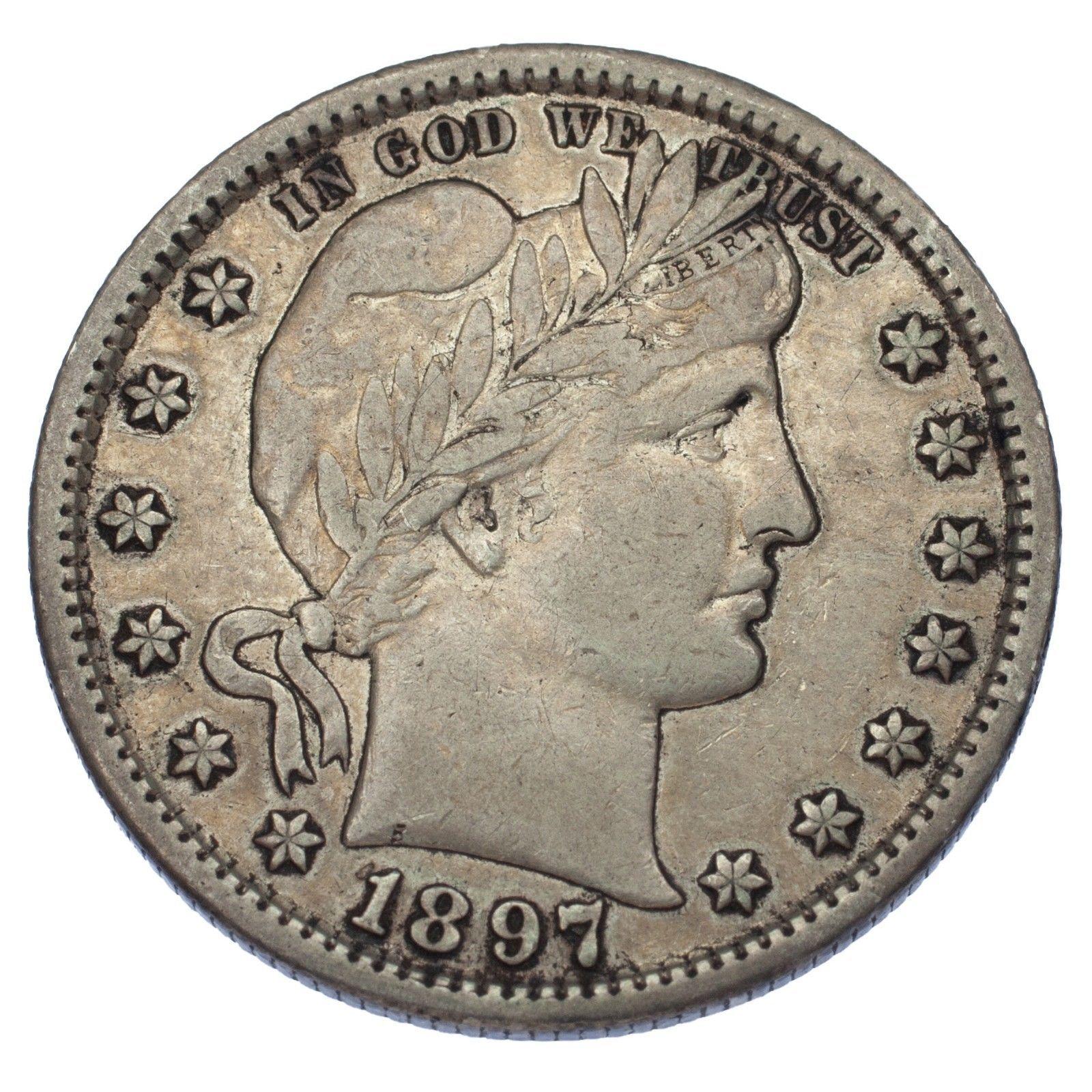 1897-S 25C Barber Quarter (Very Fine, VF Condition)