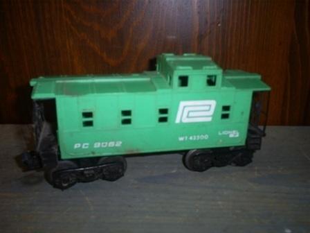 Lionel Penn Central Caboose EX, 6-9062, O Scale, Train Caboose WT 42500