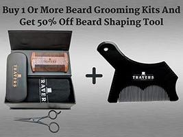 Travers Brands Beard Shaping Tool with Built-in Beard & Mustache Comb for Beard  image 5