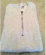 Men's Gray Pullover Sweatshirt With Half Zipper (L) - $9.50