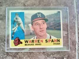 1960 Topps Warren Spahn #445 Braves HOF - $49.50
