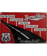 Burma Shave US66- Embossed Aluminum Sign - $17.95