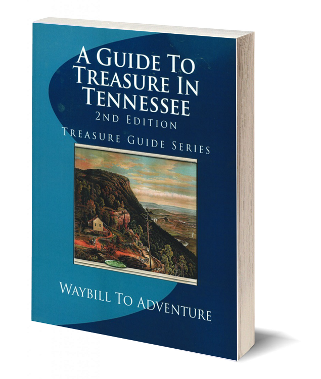 3d book cover a guide to treasure in tennessee