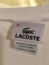 IZOD Lacoste White Tee-Shirt size 38
