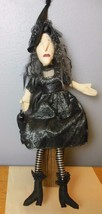 """Spooky Witch Soft Sculpture 26"""" Hat to Toe Purse Shelf Sitter Posable - $40.40"""