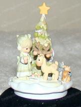 Merry Christmas Deer (Goebel Masterpiece Miniature) Precious Moments L.E... - $67.82
