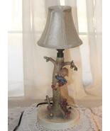"Goebel Hummel Germany # 44A OUT OF DANGER Boy Tree Dog Lamp w/Shade 12"" ... - $175.50"