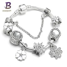 Spring Collection European Charm Bracelet Luxury Brand Crystal Beads Sna... - $10.71