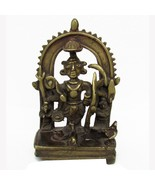 ANTIQUE VINTAGE BRASS OLD COLLECTIBLE PIECE STATUE OF HINDU RELIGIOUS PI... - $261.24