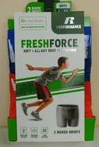 RUSSELL PERFORMANCE FreshForce Boys S (6/8) Boxer Briefs 2 Pk NWT - $9.90