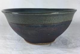 Handmade Studio Pottery Art Glazed Swirl Dipped... - $29.93