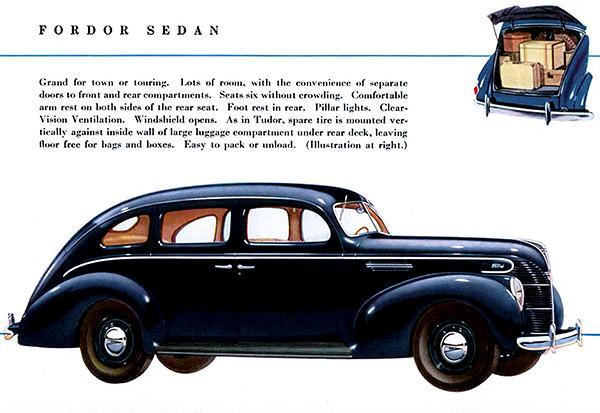 Primary image for 1939 Ford Fodor Sedan - Promotional Advertising Poster