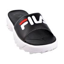Fila Disruptor Bold Women's Slides Black-White-Red 5SM00079-014 - $39.95