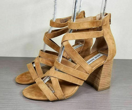 Steve Madden July Cage Sandal, Tan Suede, Womens Size 8.5 M - $33.59